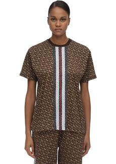 Burberry Tb Monogram Cotton Jersey T-shirt