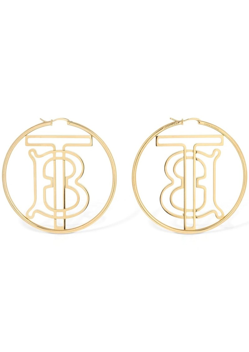 Burberry Tb Monogram Hoop Earrings