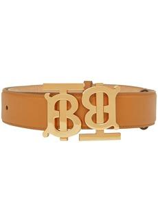 Burberry TB monogram motif leather belt