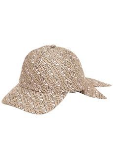 Burberry Tb Monogram Print Silk Baseball Hat