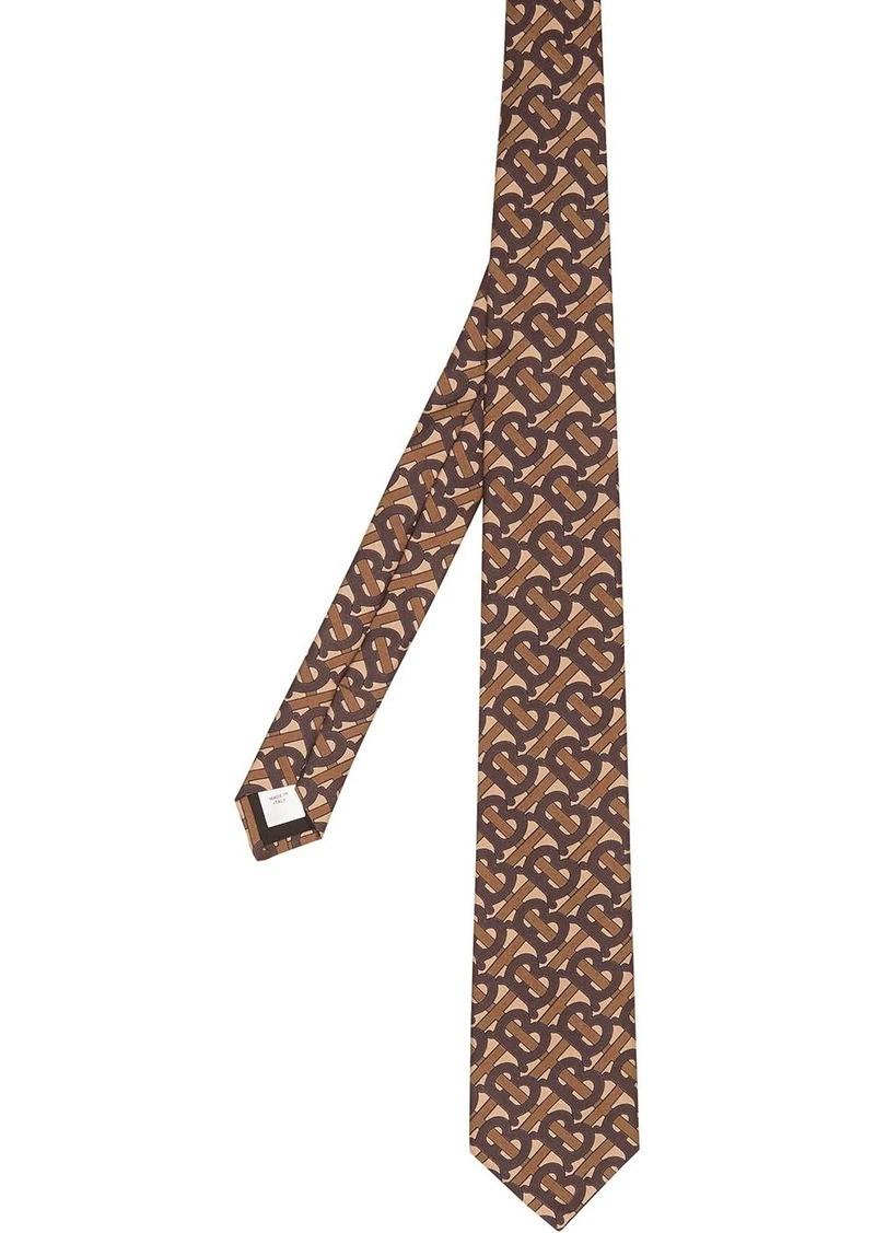 Burberry TB monogram print tie
