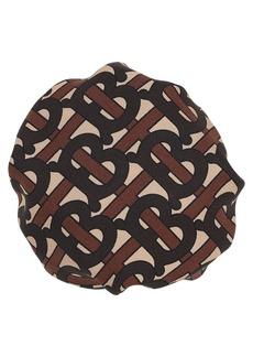 Burberry Tb Monogram Printed Silk Hair Bun Cover