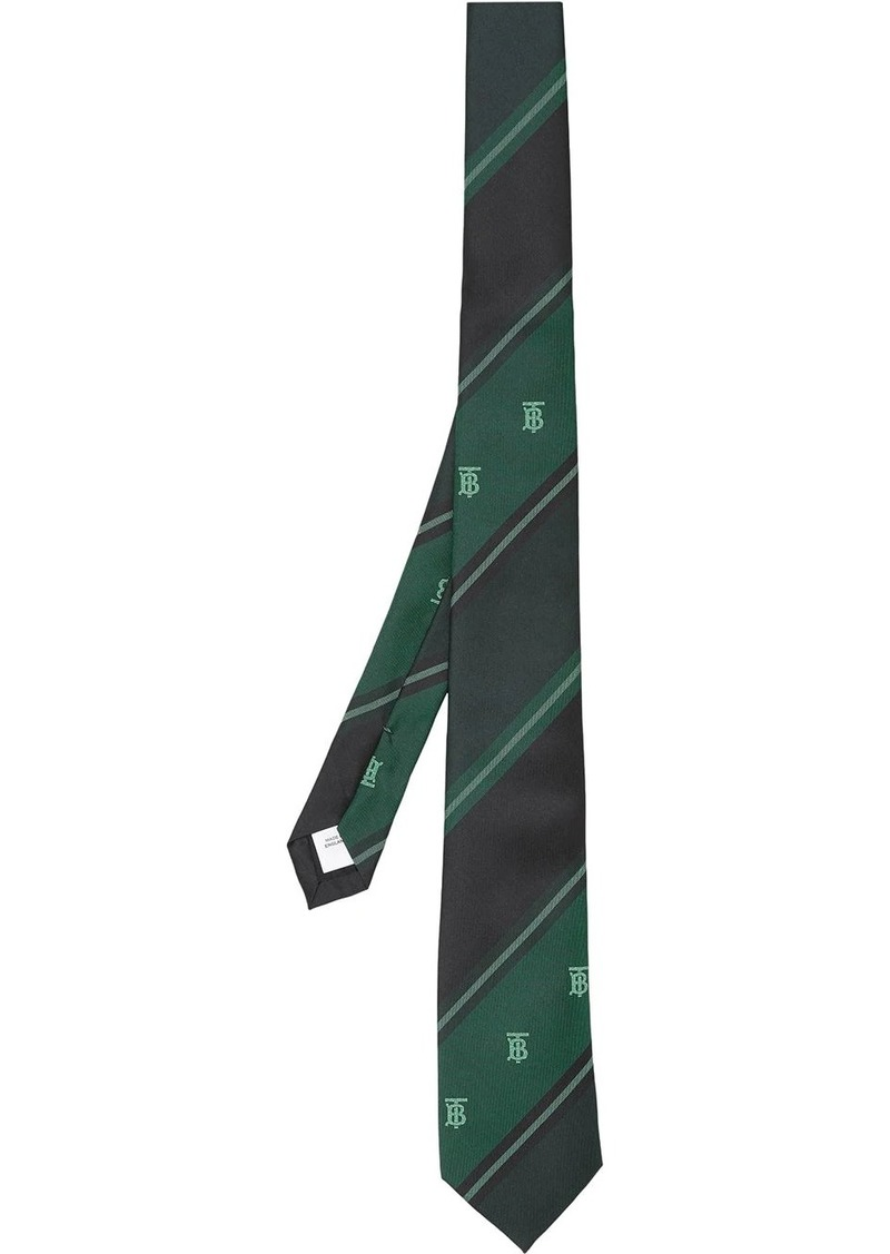 Burberry TB motif striped jacquard tie