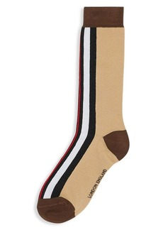 Burberry TB Pop-Up Stripe Monogram Socks