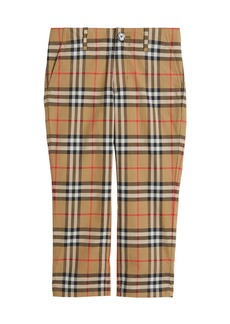 Burberry Teo Straight-Leg Check Twill Pants