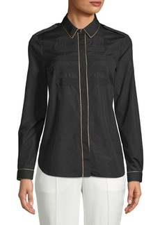 Burberry Textured Metallic Piping Shirt