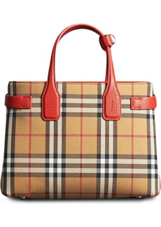 Burberry The Small Banner in Vintage Check and Leather