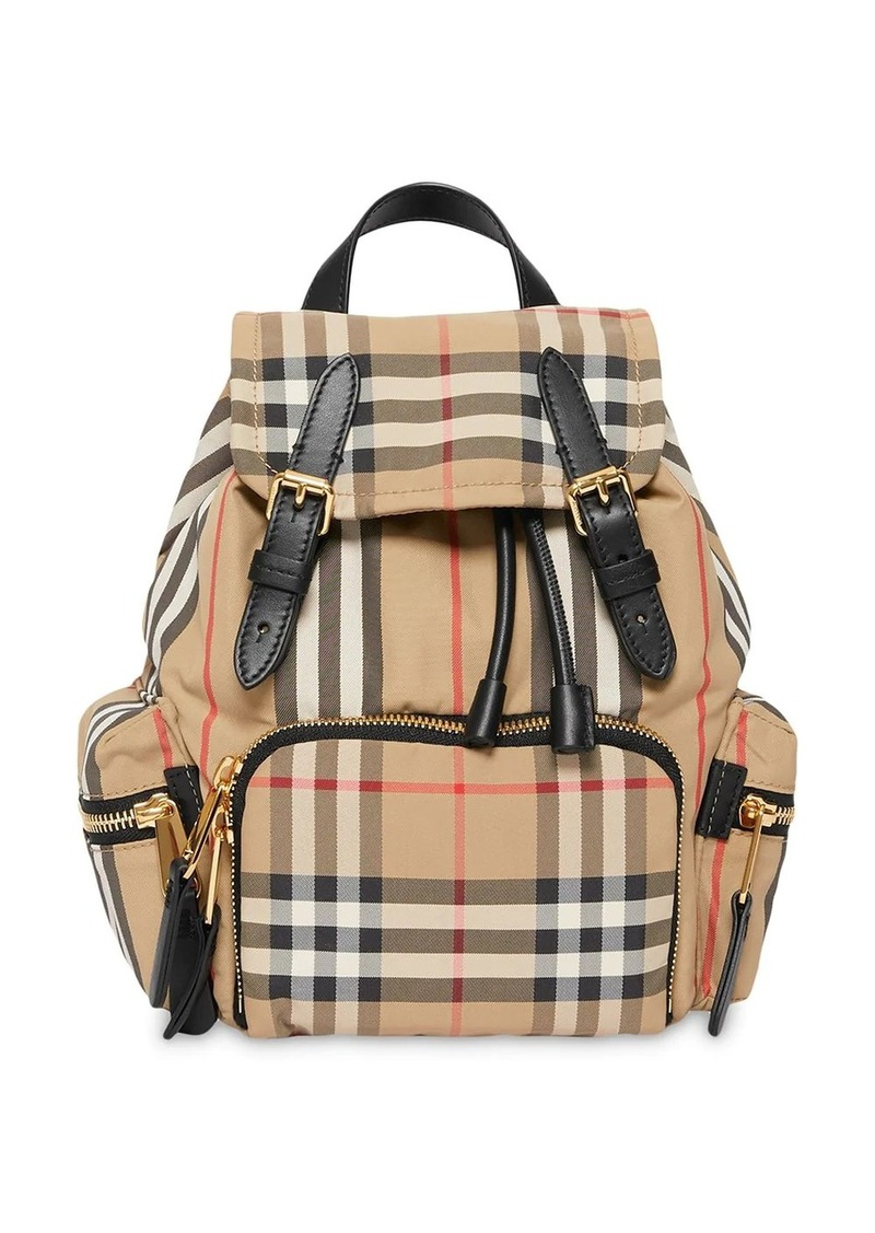 Burberry The Small Rucksack in Vintage Check and Icon Stripe
