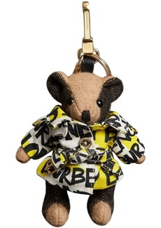 Burberry Thomas Bear Charm in Graffiti Print Trench Coat