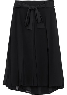 Burberry Tie-waist Pleated Georgette Skirt