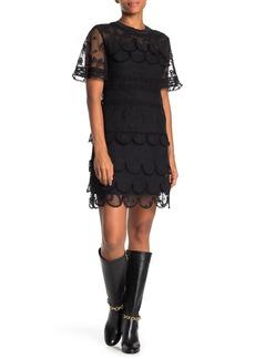 Burberry Tiered Lace Mini Dress