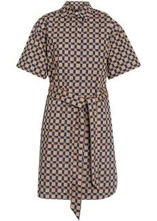 Burberry Tiled Archive Print Cotton Shirt Dress