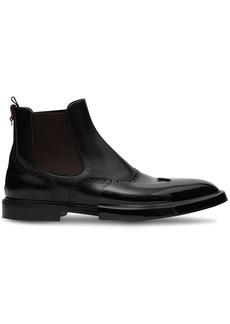 Burberry toe cap detail Chelsea boots