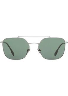 Burberry Top Bar Detail Square Pilot Sunglasses