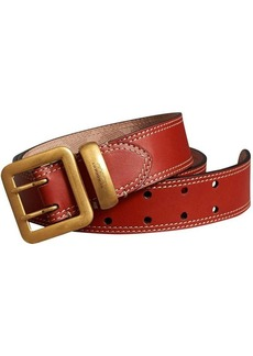 Burberry Topstitch Detail Leather Belt