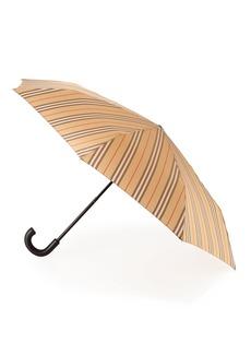 Burberry Trafalgar Vintage Check Stripe Folding Umbrella