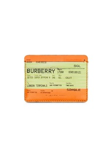 Burberry Train Ticket Print Leather Card Case