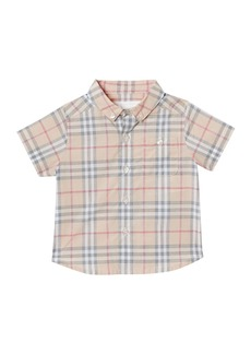 Burberry Trauls Washed Check Button-Down Shirt  Size 3-18 Months