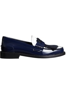 Burberry Tri-tone Kiltie Fringe Leather Loafers