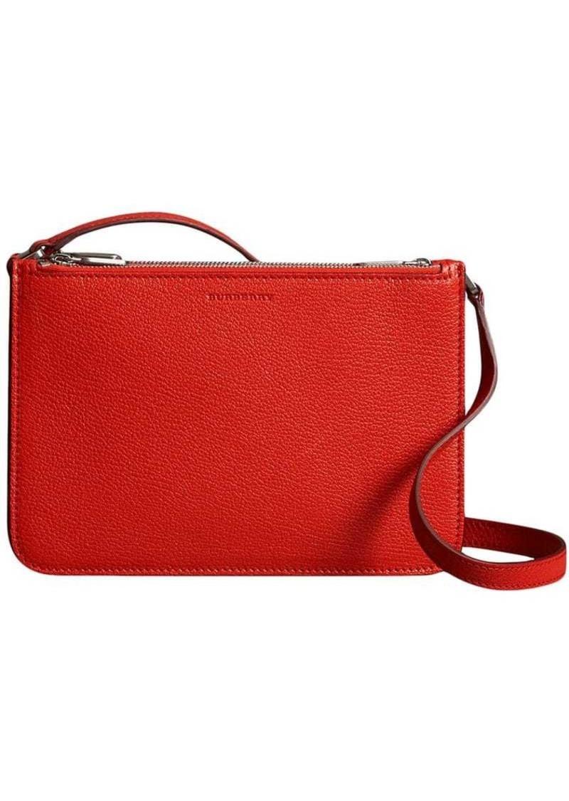 3df7d3215e Triple Zip Grainy Leather Crossbody Bag