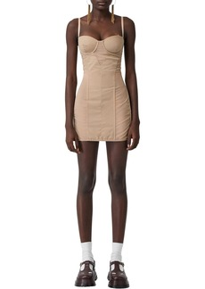 Burberry Tulle & Cotton Mini Dress