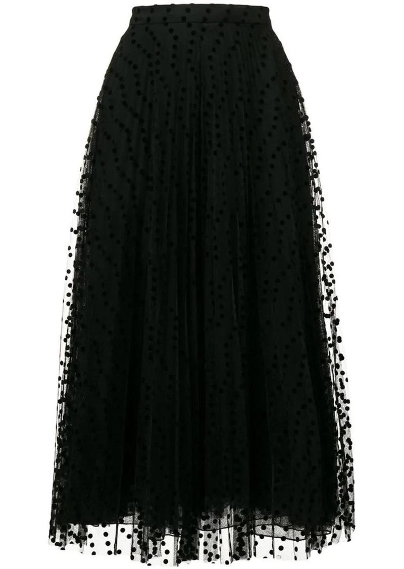 Burberry Polka-dot Flock Tulle Skirt