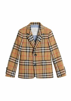 Burberry Tuxy Check Cotton Blazer