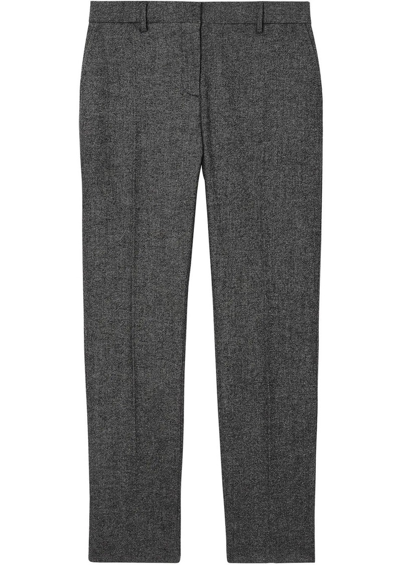 Burberry tweed cropped tailored trousers