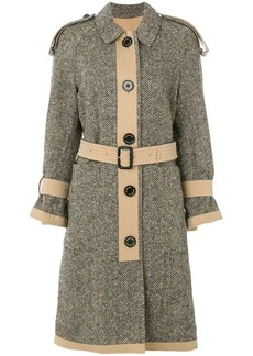 Burberry tweed trench coat