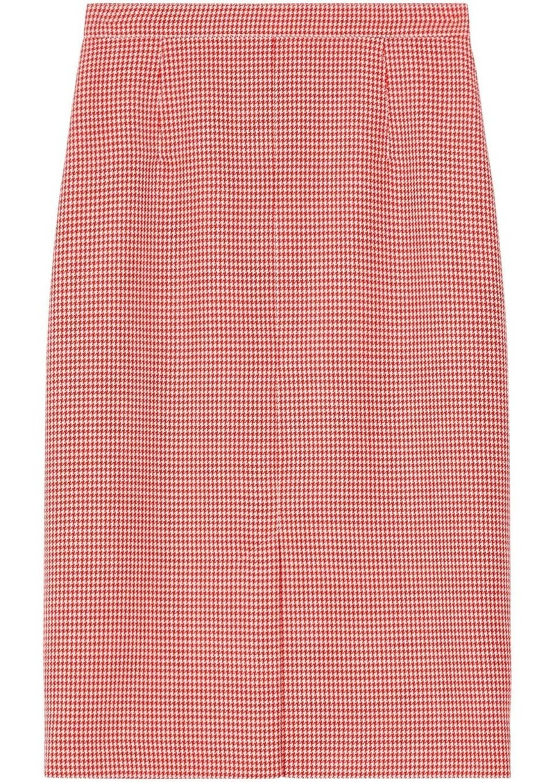 Burberry two-tone houndstooth skirt
