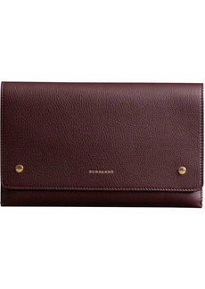 Burberry Two-tone Leather Wristlet Clutch