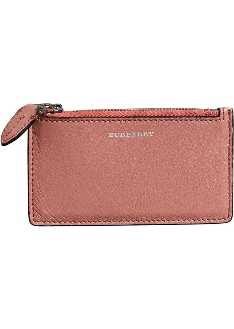 new style e450a 06703 Two-tone Leather Zip Card Case