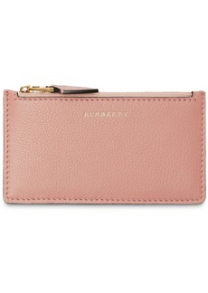 Burberry Two-tone Leather Zip Card Case