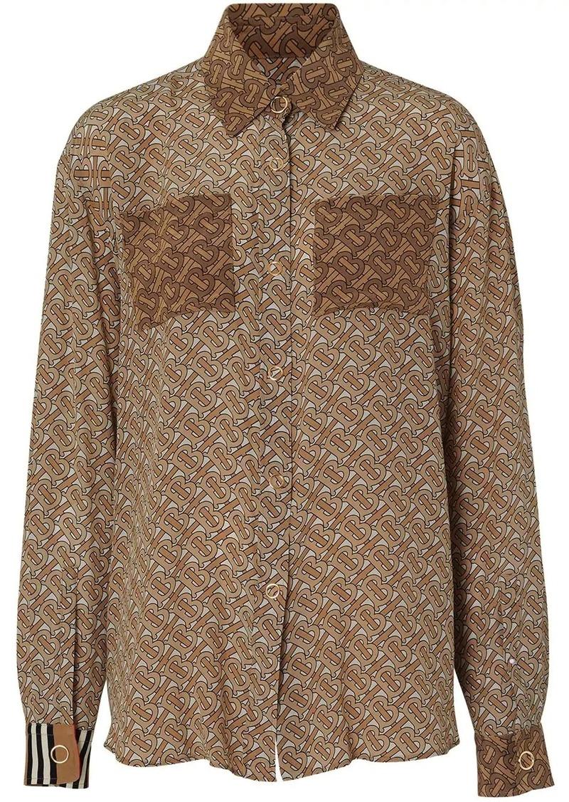 Burberry two-tone monogram print shirt