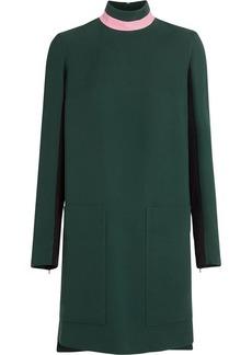 Burberry Two-tone Silk Wool Shift Dress