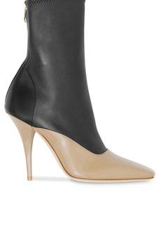 Burberry two-tone stiletto boots