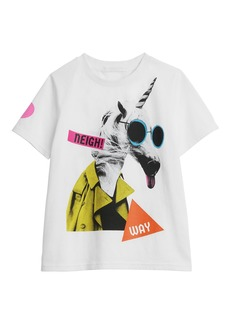 Burberry Unicorn Graphic Short-Sleeve Tee  Size 3-14