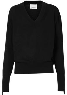 Burberry v-neck knitted jumper