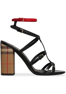 Burberry vintage check and patent leather sandals