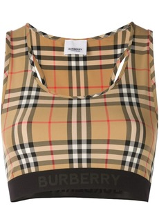 Burberry vintage check bra top