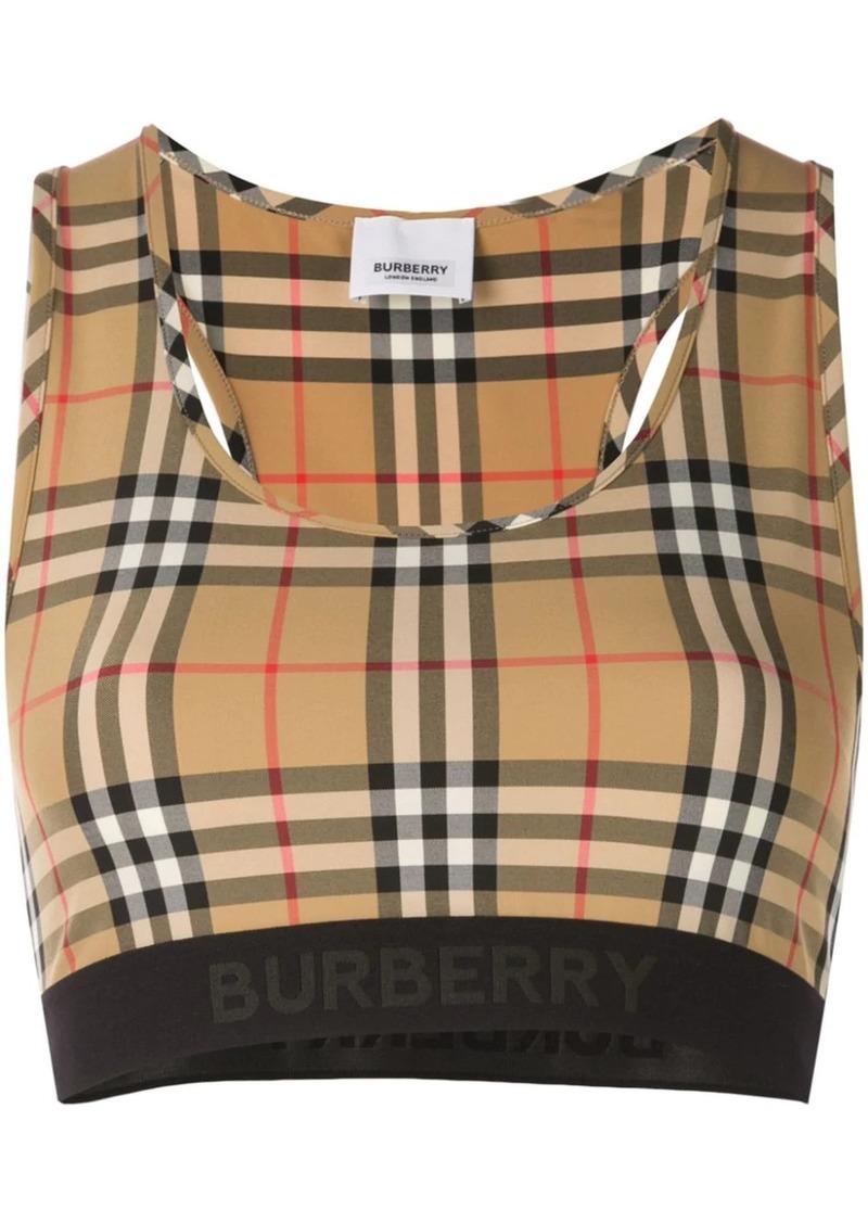 Burberry vintage check bra top
