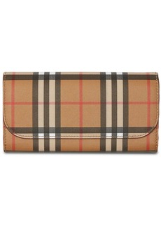 Burberry Vintage Check Continental Wallet