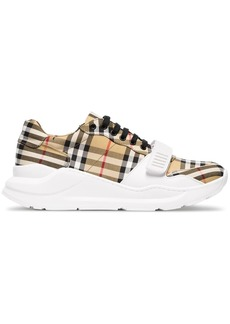 Burberry vintage check cotton-canvas sneakers