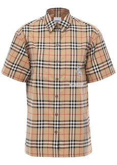 Burberry Vintage Check Cotton Twill Ss Shirt