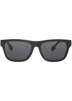 Burberry vintage check detail square frame sunglasses