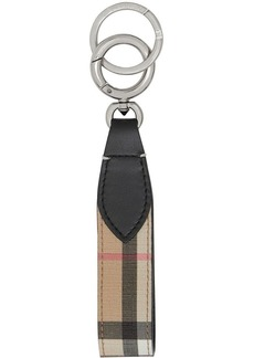 Burberry Vintage Check E-canvas and Leather Key Ring