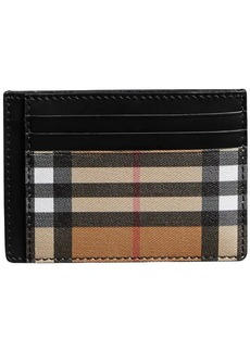 Burberry Vintage Check Leather Card Case
