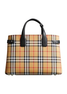 Burberry Vintage Check Medium Banner Tote Bag