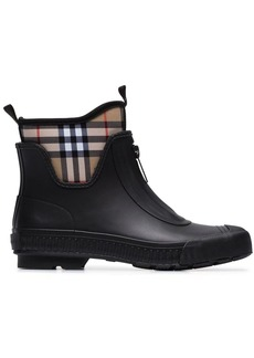 Burberry Vintage check neoprene and rubber rain boots