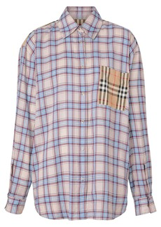 Burberry Vintage Check panel Check Voile shirt